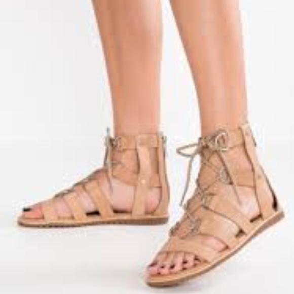 Sorel Ella Lace Up Sahara Sandal Size